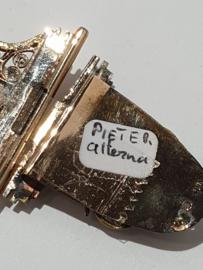 Antiek boekslot goud 10 cm lang boekmaat 4,5 cm 14 kr 6 gram staat van nieuw