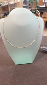 Gouden buis collier nieuw 2 mm diameter 42 cm lang 6.2 gram cartier haak