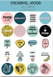 Stickervel food