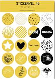 Stickervel geel