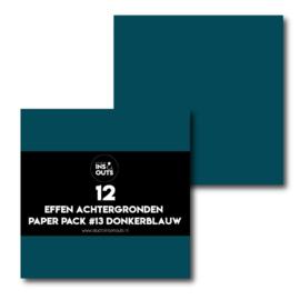 Paper Pack #13 donkerblauw effen
