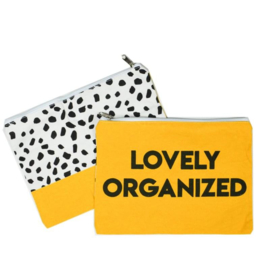 Etuis 'loveley Organized' - okergeel