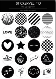 Stickervel monochrome