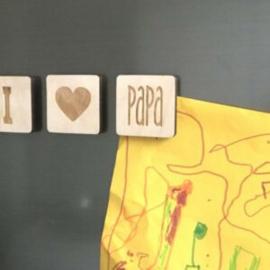 Magneten set i love papa