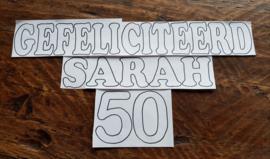 Gefeliciteerd Sarah