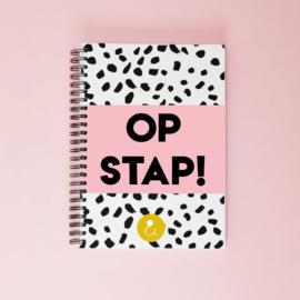 Invulboek voor dagjes weg 'Op stap!' - roze