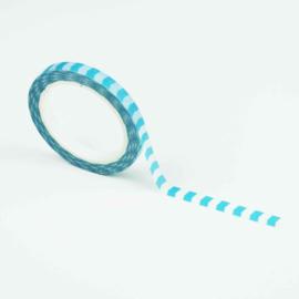 Smalle washi tape: lichtblauwe pijltjes