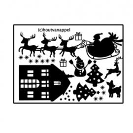 Raamfolie Kerst set