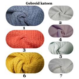 Enkellaags gebreide wafel deken