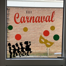 DIY Carnaval raamsticker