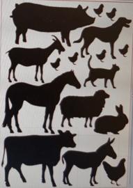 Voorjaarssticker diertjes XL