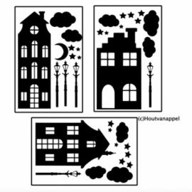 Basisset GROTE huisjes XL