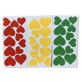 DIY rood/geel/groen raamsticker set 3