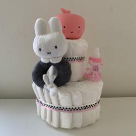 2 laagse taart appellamp roze