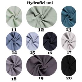 Actie 2 x Aankleedkussen hoes hydrofiel uni