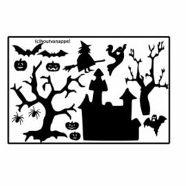 Raamfolie Halloween set