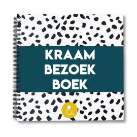 Kraambezoekboek - donkerblauw