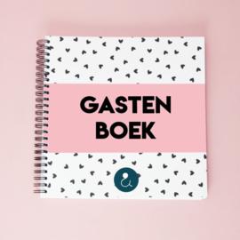 Gastenboek voor je bruiloft - roze
