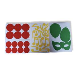 DIY rood/geel/groen raamsticker set