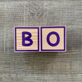 Houten naamblok 5 x 5 cm