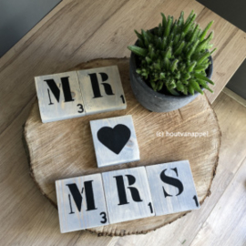 voordeelset scrabble letters mr♥mrs