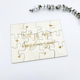 Houten puzzel   Knuffeloom