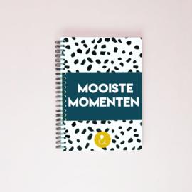 Mooiste Momenten boek (A5) - donkerblauw