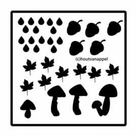 Raamfolie aanvul setje bladeren