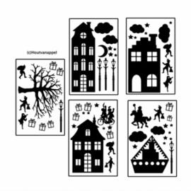 GROTE huisjes set sinterklaas/basis XL