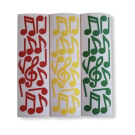DIY Muzieknoten raamsticker