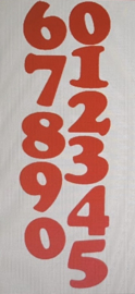 Raamstickers: Cijfers