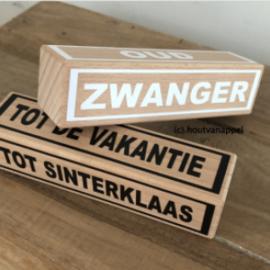 1 extra houten blok (groot)
