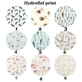 Actie 2 x Aankleedkussen hoes hydrofiel print