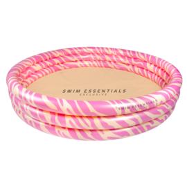 Kinder zwembad roze zebra 150 cm