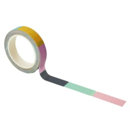 Washi tape met kleur: Color blocked