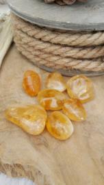 Citrien extra kwaliteit (gebrande amethist)10-20 gram