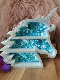 """""""Unicorn Shelf""""  /  Eenhoorn kastje staand (nr 2) met Bergkristal"""