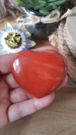 Rode Jaspis hart 60mm