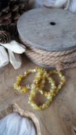 Splitarmband gele opaal