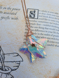 Wire wrapped Ster hanger Angel aura kwarts. (nr 4)