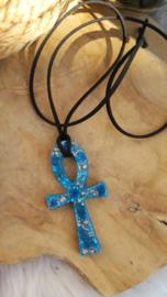 Orgonite hanger Ankh Lapis Lazuli ( nr 2)