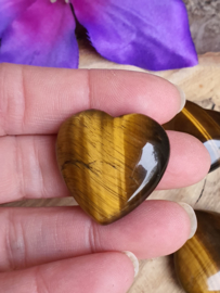 Tijgeroog hart  +/- 30mm