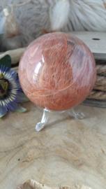 Roze Maansteen bol ± 73 mm