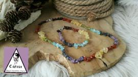 Chakra set; splitarmband en collier