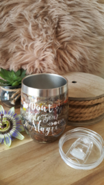 "RVS dubbelwandige thermos beker ""Don't hide your Magic"""