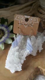 Blauwe Chalcedoon oorbellen