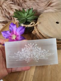 Seleniet plaat rechthoek Lotus 15 cm