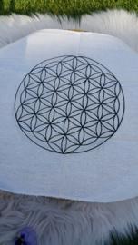 Katoenen Kristal raster doek met Levensbloem
