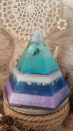 Orgonite Hexagonal piramide zeshoekig op verzoek
