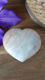 Blauwe Aragoniet / Caribbean Blue Calcite  hart (nr 2)
